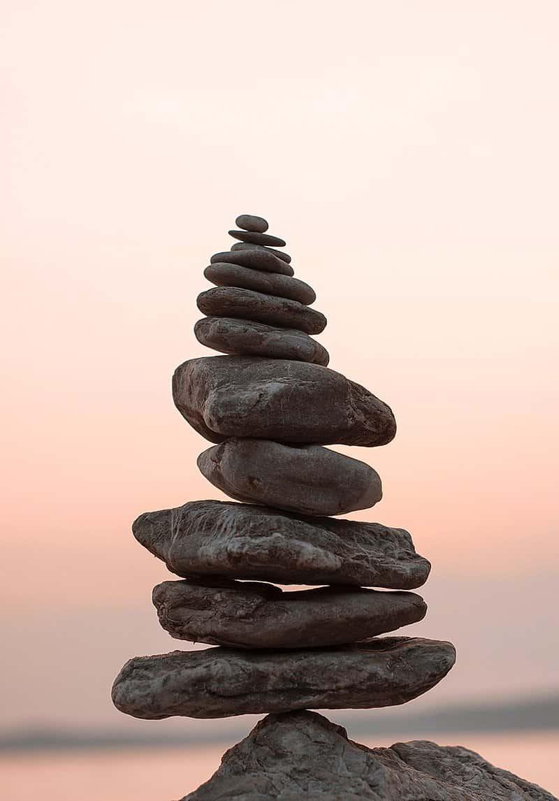 colonna o torre di pietre